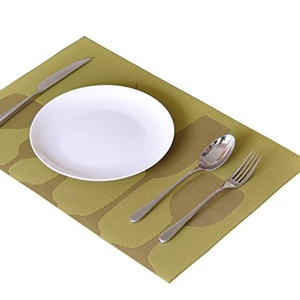 Lerela Set Of 4 Wine Glass Printed Non-Slip PVC Placemat Heat Insulation Woven Vinyl Table Mat