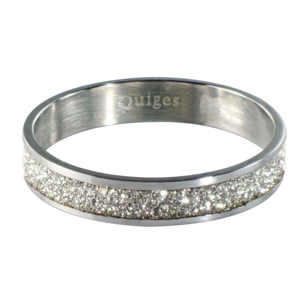 Quiges - Stacking Ring Slide-On Ring Silver 19mm