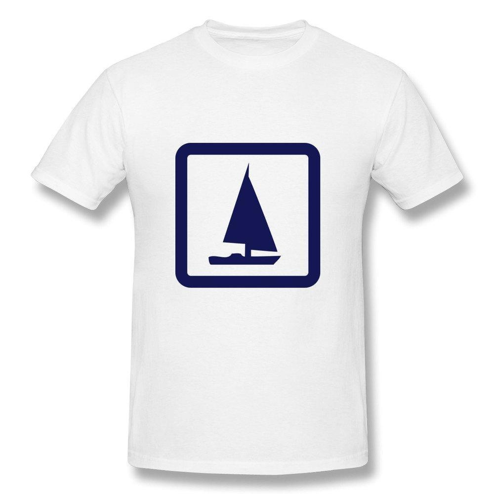 HM Men's Tees Sailing Boat White