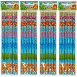 Dinosaur Fun Pencils, 18 supplied by Party Bags 2 Go
