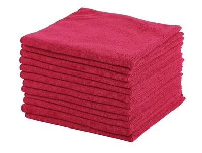 Dri 12-Pack Premium 16 in. x 16 in. Microfiber Cleaning Cloths (Red)