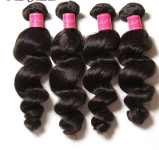 1 bundle, Brazilian Virgin Hair, Loose Wave,100% Human Hair, Double Wefted, Minimum Shedding, Easy to color, Soft in texture, Unprocessed (20)
