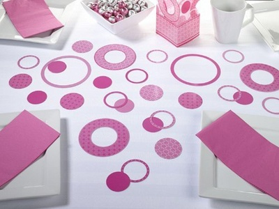 Lillian Rose-Pink Circle Confetti by Lillian Rose by Lillian Rose