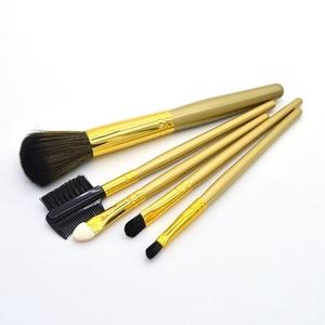 Cosmetic Brushes, Yoyorule 5pcs Makeup Brushes Set Blush Lip Brow Eyeshadow Brush (Gold)