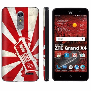 ZTE [Grand X 4] [Z956] Phone Case [ArmorXtreme] [Black] Designer Image [Flexi Gel TPU] - [Rising Sun Controller] for ZTE [Grand X 4] [GrandX4]