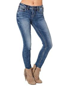 Silver Jeans Women's Suki High Risesuper Skinny Jean