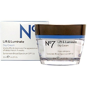 BOOTS No7 Lift & Luminate Day Cream SPF15 1.6 Fl. Oz/ 50 ml by Boots