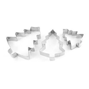uxcell Stainless Steel Kitchen Cookie Chrismas Tree Shape Mold Cutter 3 in 1