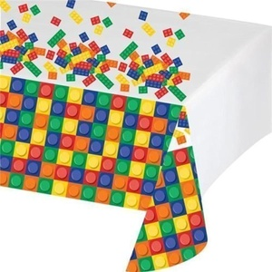 Creative Converting Block Party Plastic Party Tablecover by Block Party
