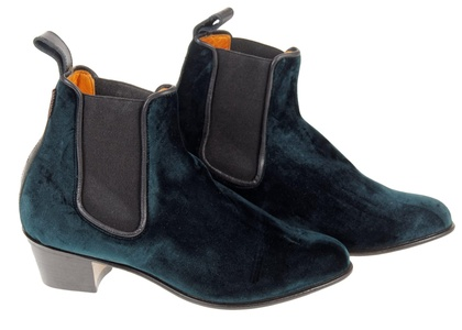 Penelope Chilvers Velvet Cubana Boots Size 9.5 (40 Euro) Forest Green $455 New