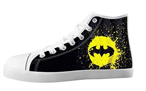Custom High Top Lace Up Canvas Trendy For Men's Shoes For Batman Individualized Design-10M(US)