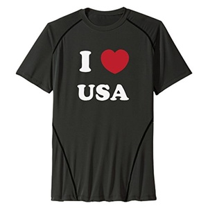 I Love My USA Sports Mens Quick Dry T Shirt