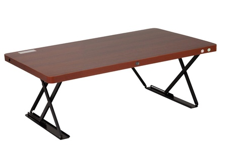 Halter ED-244 Mini Electric Adjustable Desk with Custom Height Control | Table Top Sit / Standing Desk ( Cherry )