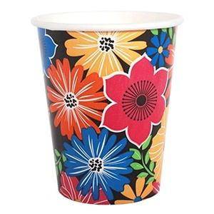Floral 'Bold Blooms' 9oz Paper Cups (8ct)
