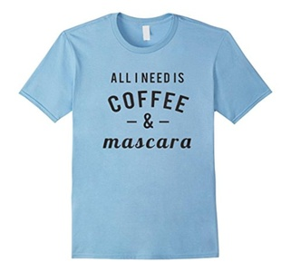 Men's Coffee And Mascara Shirt Small Baby Blue