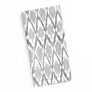 Black and White Ikat Napkins