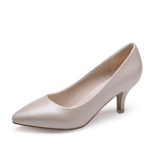 Summer shoes/chunky heels low-cut thin shoes/Korean leisure pointed feet high heels-C Foot length=23.3CM(9.2Inch)