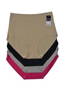 Alfa Global Women's Pack of 4 Laser Cut High Rise Boy Panty (L, 4ASSTCOL)