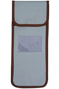 Wallet for folding stick - pale blue with brown trim by Classic Canes