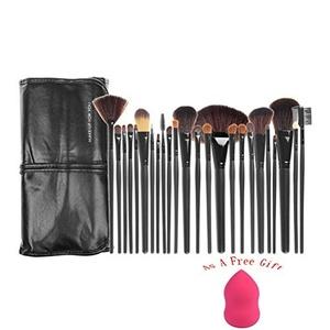 Beautiers' Soil(TM) 24 pcs Makeup Brush Set - Cosmetic Foundation Face Powder blush brush Makeup Brush Kit + Makeup Brush Bag (Black Color)