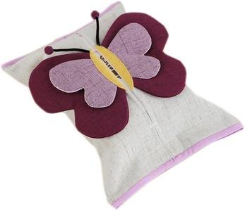 Creative COTTON&LINEN Tissues Box Cartoon Car Bathroom Toilet Tissue Paper Case (Butterfly)