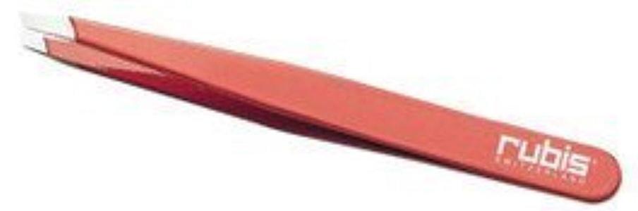 Mehaz Rubis Slant Tip Tweezer, 130 Red by Mehaz
