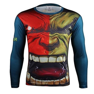 Avengers Hulk 3D Cosplay Costume Quick-Dry Sports Mens Shirt Gym Cycling Jersey (Asian-M)