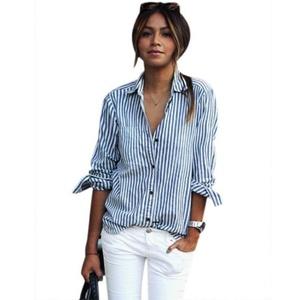 SHIRT,NOMENI Women Loose Blouse Casual T Shirt Tops Striped Long Sleeve (XL)