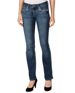 Earl Jeans Juniors Embellished-Pocket Jeans