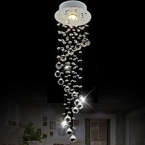 LightInTheBox® Chandelier Luxury Modern Crystal Bulb Included , Pendant Lights Ceiling Light Fixture for Living Room, Dining Room, Bedroom