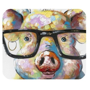 DreamOffice-Custom Pig's Head Mouse pad Gaming Mouse Mat Cloth Cover Support Wired Wireless or Bluetooth Mouse,9.84