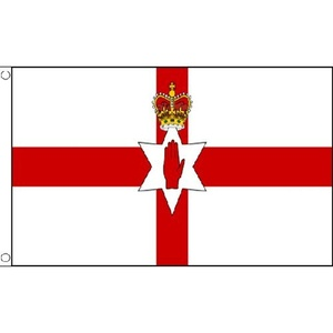 Northern Ireland Large Flag 8ft x 5ft Red Hand Of Ulster Banner With 2 Eyelets by Northern Ireland