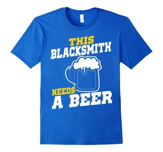 Men's This Blacksmith Needs A Beer T-Shirt 2XL Royal Blue