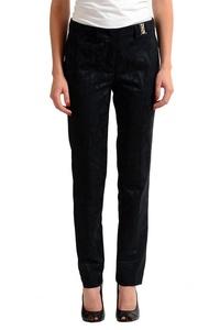 Versace Jeans Black Patterned Women's Casual Pants US 6 IT 42;