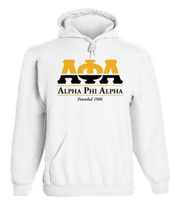 Alpha Phi Alpha Graphic Print Hoodie by Fashion Greek White Large