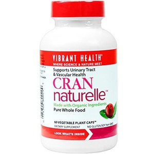 Vibrant Health Cran Naturelle 60 Vegetable Plant Capsules 500mg' by Vibrant Health