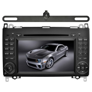 YINUO 7 inch 2 Din Android 5.1.1 Lollipop Quad Core Car Stereo HD 1024600 Capacitive Touch Screen Car Radio Receiver DVD GPS Navigation for Mercedes-Benz, External Mic+8GB Map Card+Reverse Camera