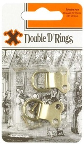 X 4 - Single Brass Plated D-Rings by 'X'