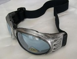 Distressed Silver Pewter Chrome-Look 'STEAMPUNK' Cyber Rave Goggles-Perfect for Burning Man!
