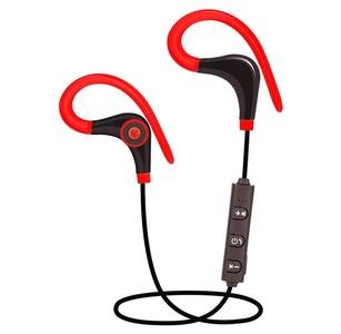 Rukiwa Wireless Sports Stereo Bluetooth Earphone Headphone Headset For IPhone (Red)