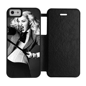 DONGMEN New fashion custom Madonna hight quality Silicone Rubber/Plastic iPhone 5/5S Flip Protective Cover Case