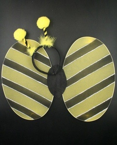 Bumble bee wings and deeley boppers set. Great fancy dress, dressing up box. by Other