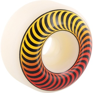 Spitfire Wheels Classic Fader White / Yellow / Orange Skateboard Wheels - 53mm 99a (Set of 4)