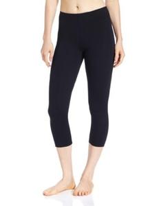 capri pants capezio black supplex cotton look large ladies by Capezio