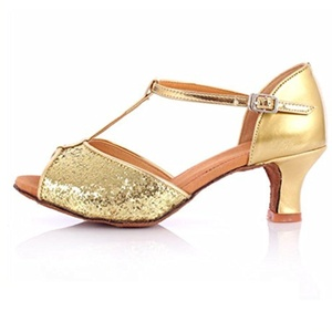 high heel shoes/Women's soft leather ballroom dance at the end of dance shoes-Q Foot length=22.3CM(8.8Inch)