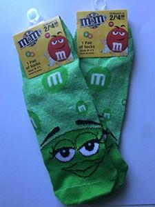 Three pairs M&M's Socks Green Size 9-11