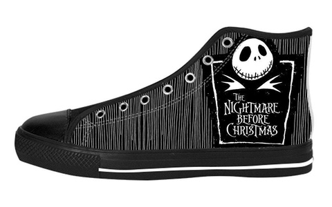 Men's High Top Full Canvas Upper Shoes Soft Inner Nightmare Before Christmas Design