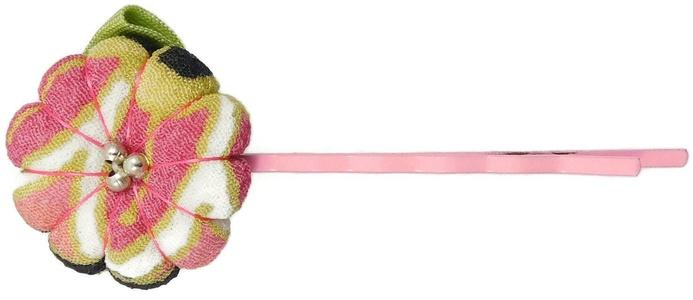 Annie Loto Kimono Hair Clip Accessories: Bobbi Pin (Pink Multi)