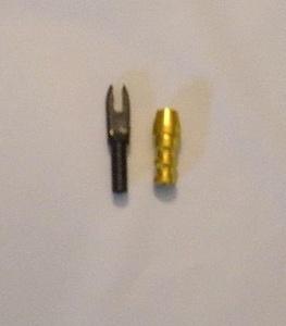 Gold Tip Accu Bushing Aluminum Adaptor .244-.246 w/Black F Nocks 12/Pkg