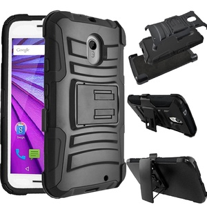 Motorola Droid Turbo 2 XT1585 / Moto X Force XT1580 Case [SlickGears Heavy Duty Shock Impact Protection Dual Layers Armor Kickstand Work Case + Belt Clip Carrying Holster